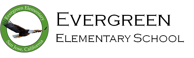Evergreen Elementary School Logo - go home page